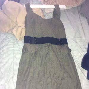 BCBG green midi dress body con